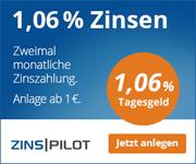 Austrian Anadi Bank Tagesgeld mit 1,06% Zinsen p.a.