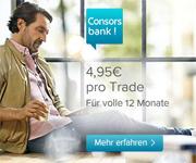 Consorsbank Trader-Konto für Neukunden - traden ab 4,95€ - für ganze 12 Monate