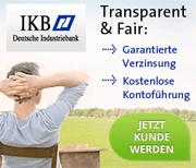 IKB Deutsche Industriebank Festgeldkonto mit bis zu 2,60% Zinsen p.a.
