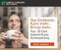 Cortal Consors Girokonto mit 50€ Prämie