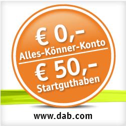 DAB bank Girokonto mit 50 EUR Startguthaben