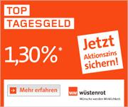 Nur noch bis 31.12. - Wüstenrot direct Top Tagesgeld mit bis zu 1,30% Zinsen