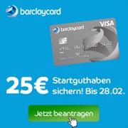 Barclaycard New Visa mit 25€ Startguthaben