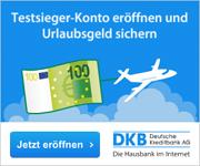 DKB Cash Konto mit 100€ Urlaubsgeld
