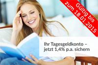 Varengold Bank Tagesgeld mit 1,40% Zinsen p.a. inkl. Zinsgarantie bis 31.07.2015