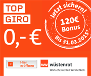 Wüstenrot direct Top Giro mit 120€ Bonus