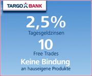 TARGOBANK Depot mit 2,50% Tagesgeldzinsen