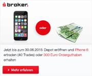 S Broker Depot Neukundenaktion - iPhone oder 300€ Orderguthaben