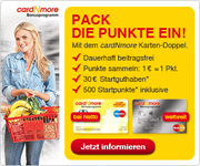 Barclaycard cardNmore mit 30€ Startguthaben