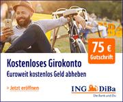 ING-DiBa Girokonto mit 75€ Startguthaben