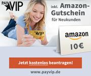 payVIP MasterCard GOLD - jetzt mit 10€ Amazon Gutschein