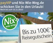 payVIP MasterCard GOLD mit bis zu 100€ Reisegutschein