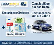 1822direkt Girokonto mit bis zu 120€ Startguthaben für Giro-Neukunden